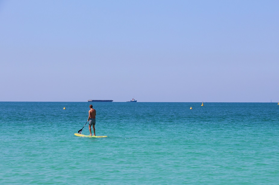 sup o stand up paddle in mare aperto